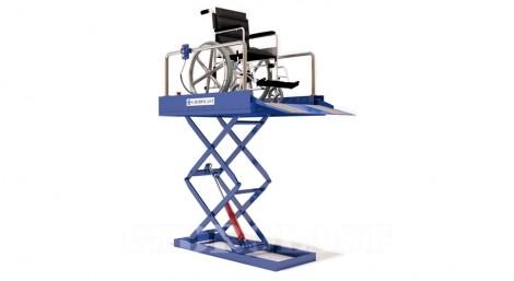 Hydraulic scissor lift for DP
