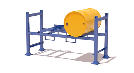 Tubular drum carrying containers