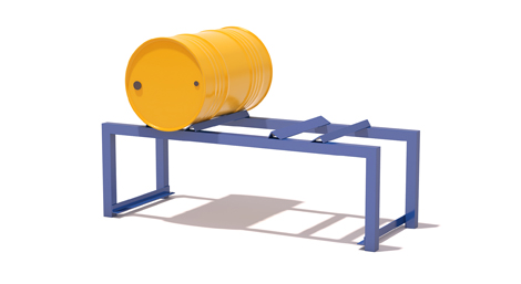 Drum carrying structures in tubular steel