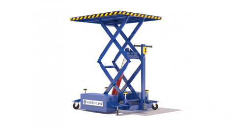 Scissor lifts truck