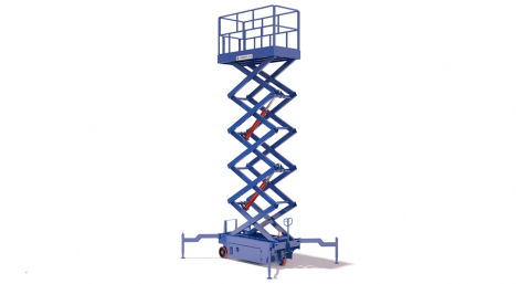 Scissor lift with electrical pulling